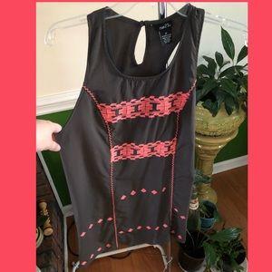 NWOT Grey & Pink Sleeveless Dress